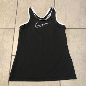 Nike Dri Fit Tank Top Black White